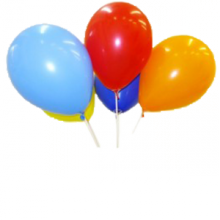 Яркие воздушные шары на палочке