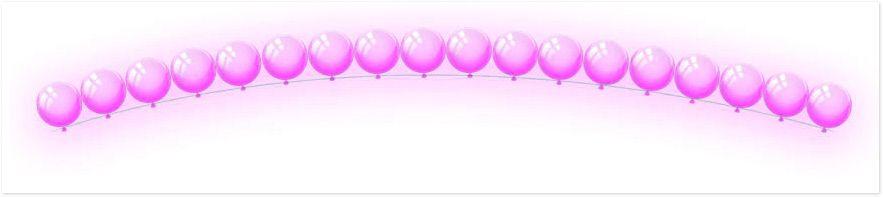 Цепочка из шариков с гелием